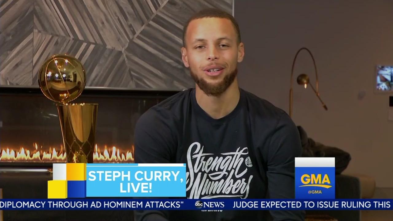 Golden State Warriors superstar Stephen Curry on Good Morning America on Monday, June 11, 2018.