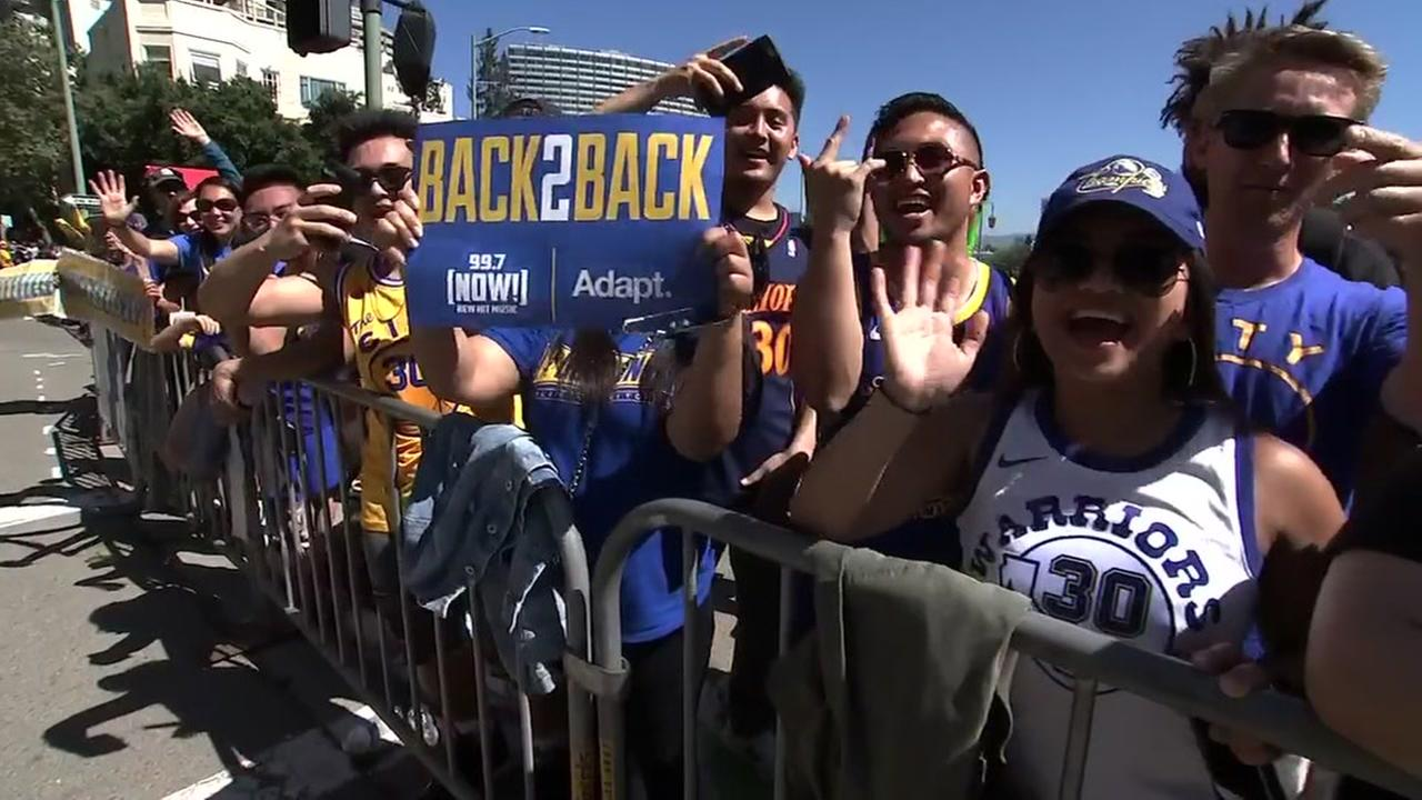 Image result for warriors parade 2018