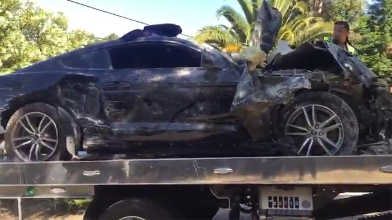 Car that slammed into home in Lafayette, California on Thursday, June 14, 2018.