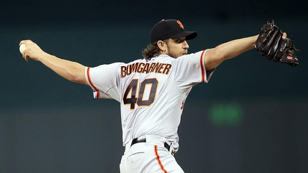 San Francisco Giants pitcher Madison Bumgarner