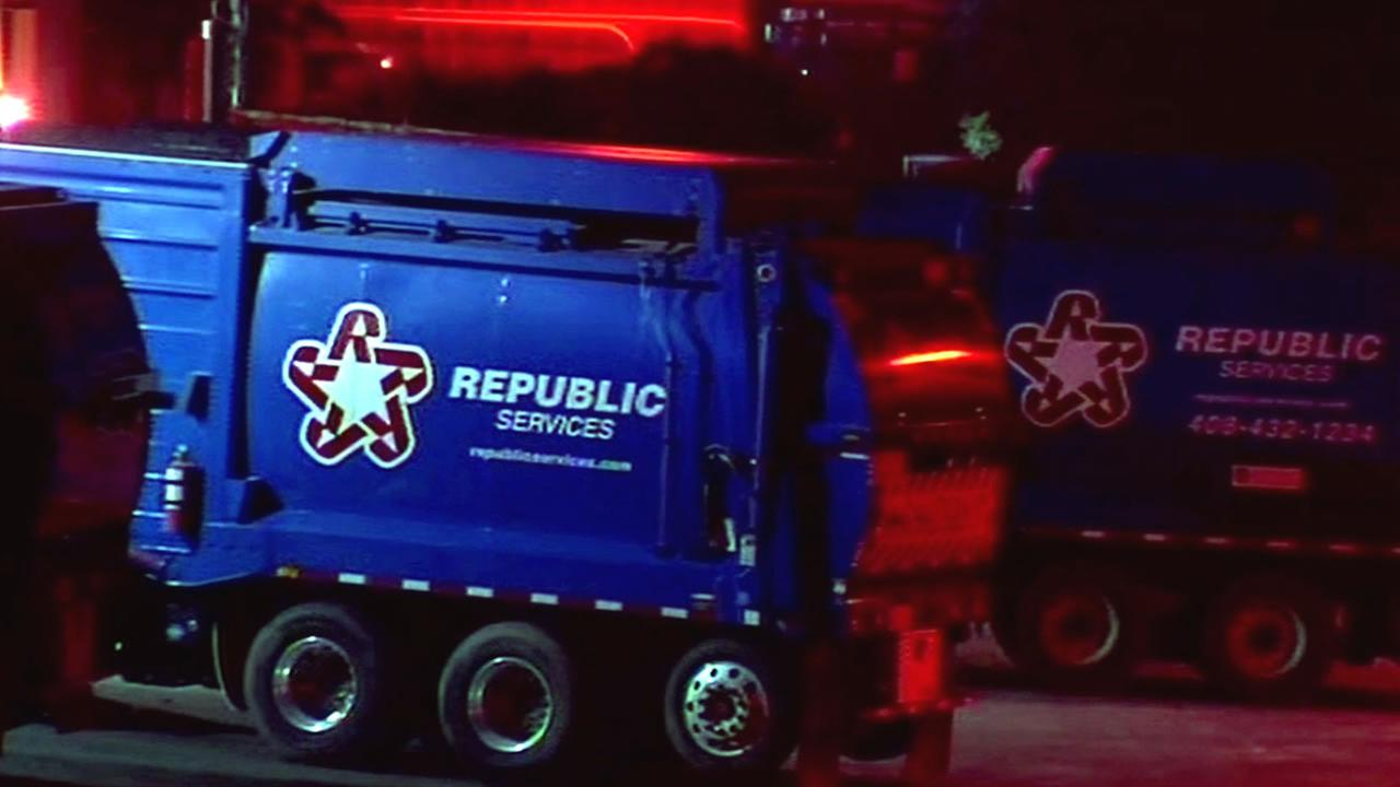 Republic Services Recycling Center truck