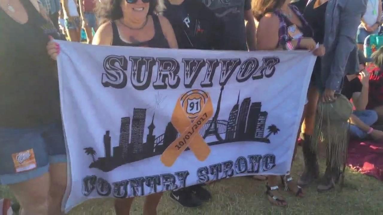 Survivors of the Las Vegas mass shooting attend a music festival in Santa Rosa, Calif. on Friday, June 15, 2018.