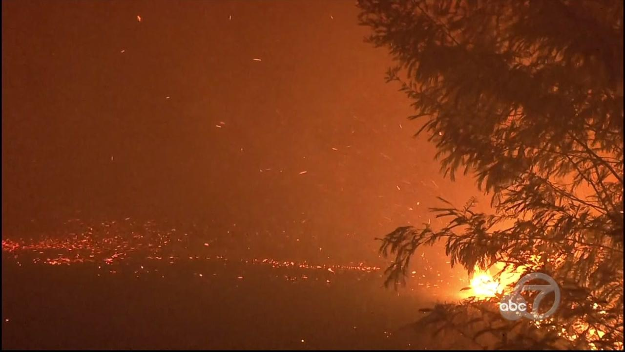 The North Bay fires rage in Oct. 2018.