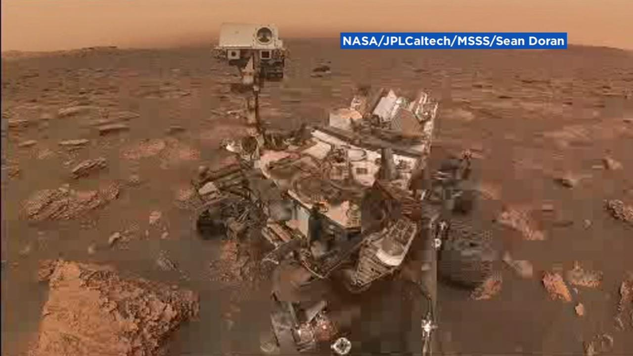 NASAs Curiosity rover took this selfie during a massive dust storm on Mars.
