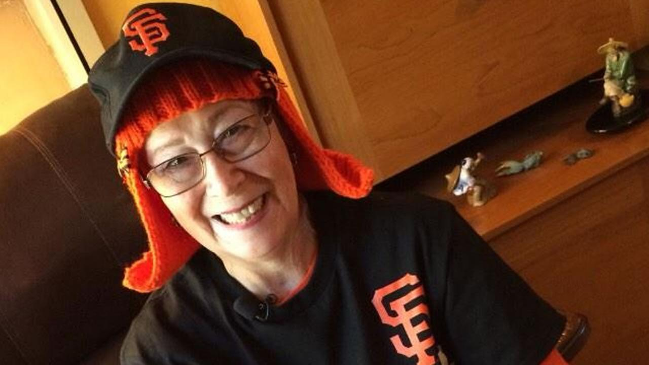 San Jose resident Rosemary Porter Capitolo knitted herself an orange wig.