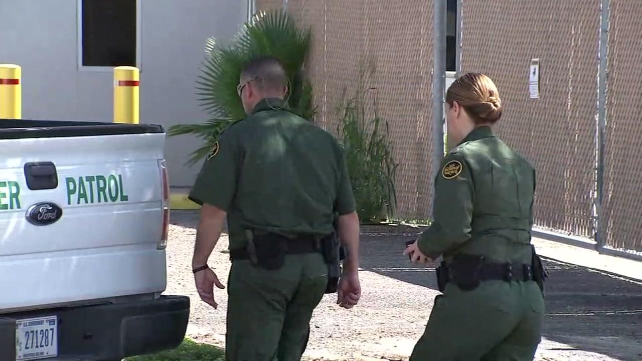Border patrol guards survey an area in Texas on Sunday, June 24, 2018.