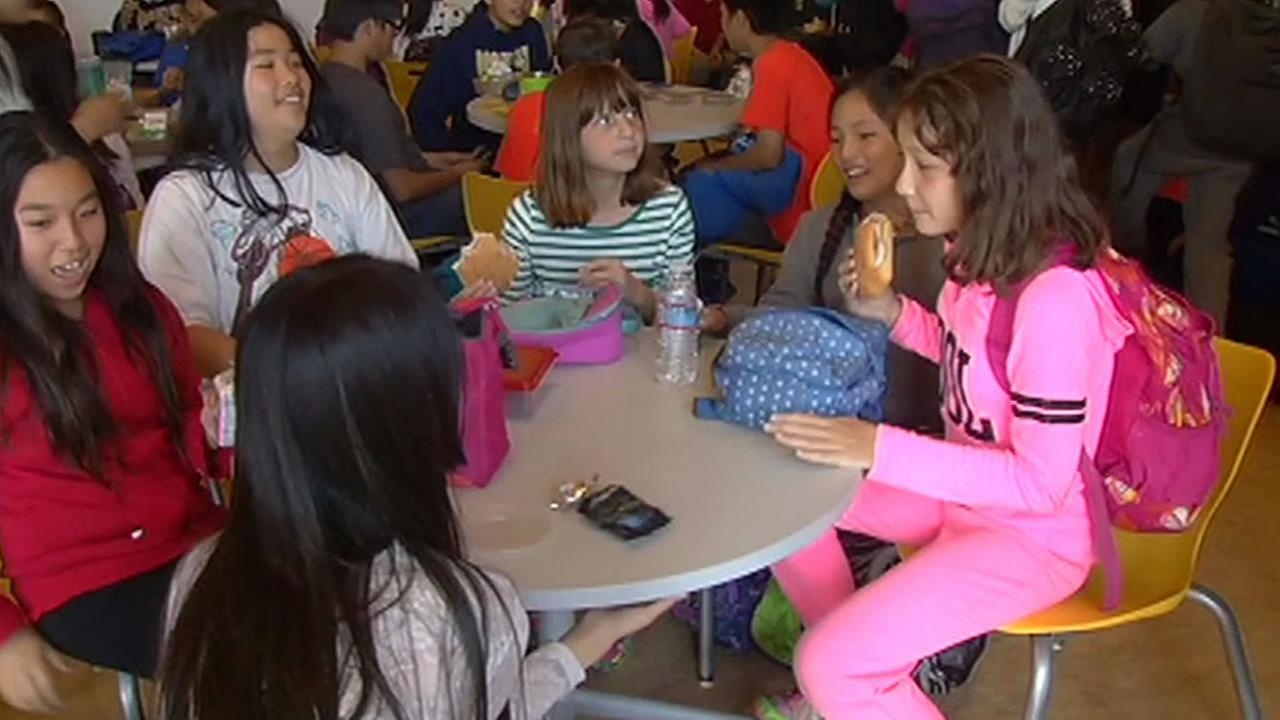 Students at Roosevelt Middle School in San Francisco enjoyed a transformed lunchroom.