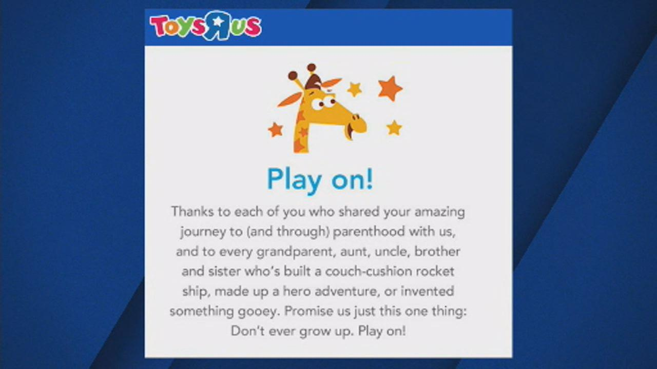 Play On Toys R Us Says Goodbye With Heartfelt Message Abc7news Com