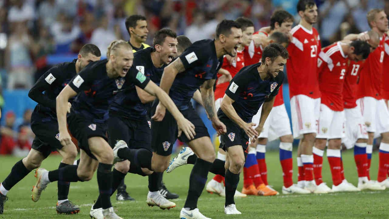 Image result for Russia vs Croatia 2018 penalty shootouts