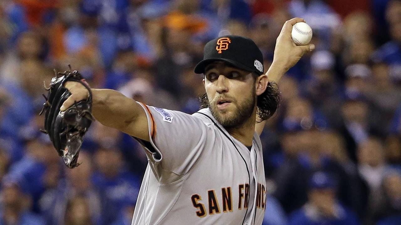 Madison Bumgarner pitching