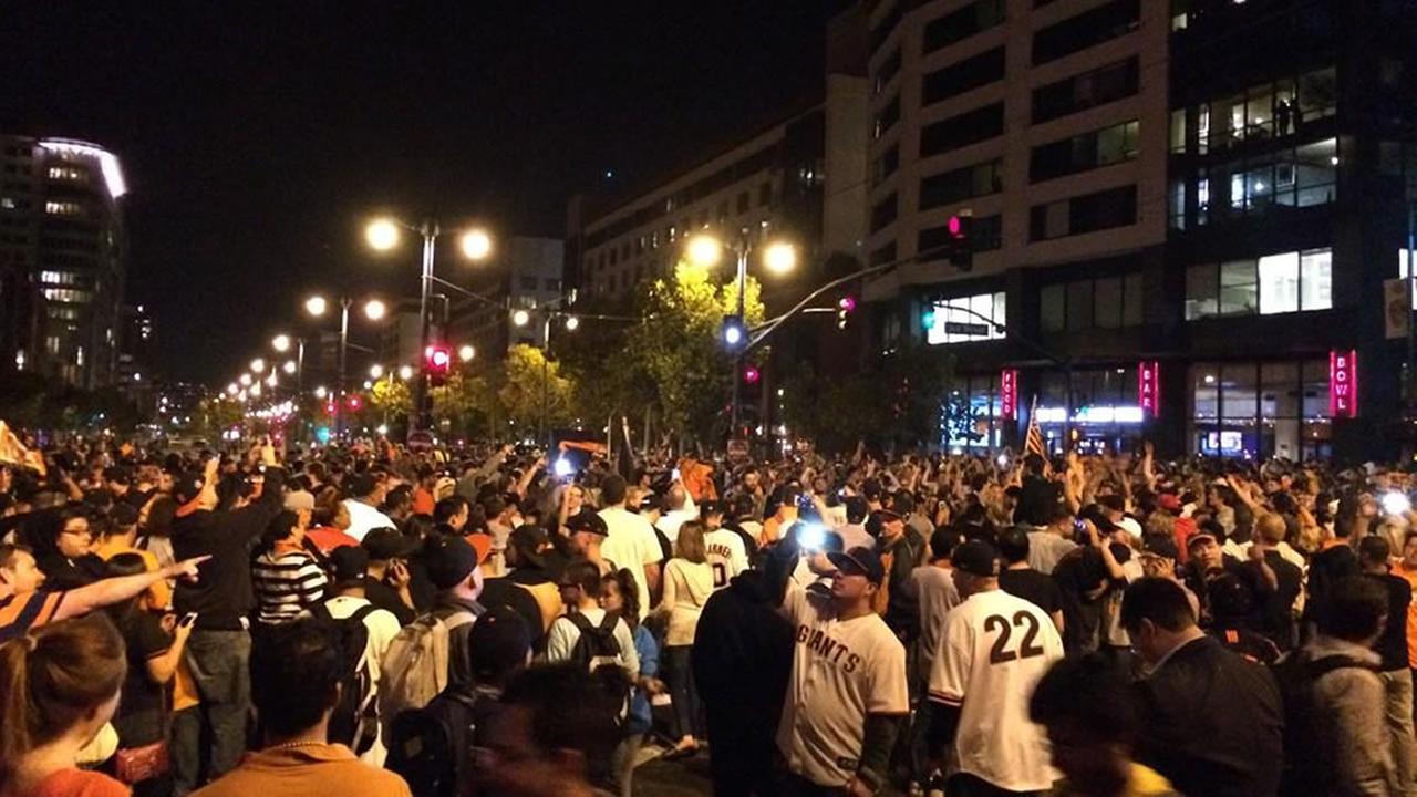 fans in street