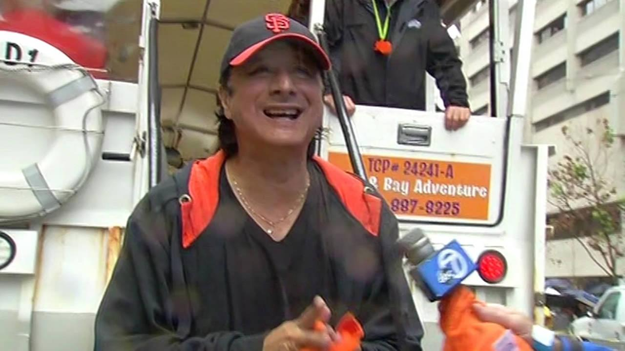 Steve Perry at the San Francisco Giants parade.