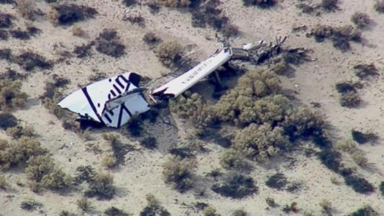 SpaceShipTwo was destroyed after it separated from its mother ship, White Knight Two, the company said.