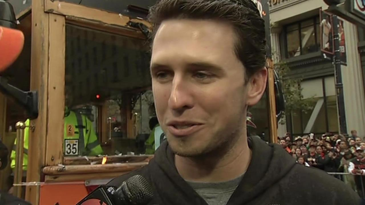 San Francisco Giants catcher Buster Posey.