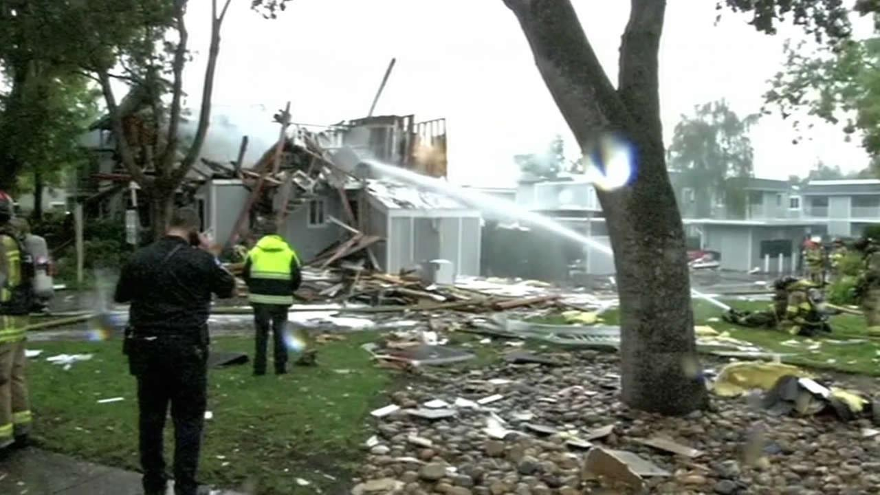 An explosion in Walnut Creek destroyed part of a townhouse structure.