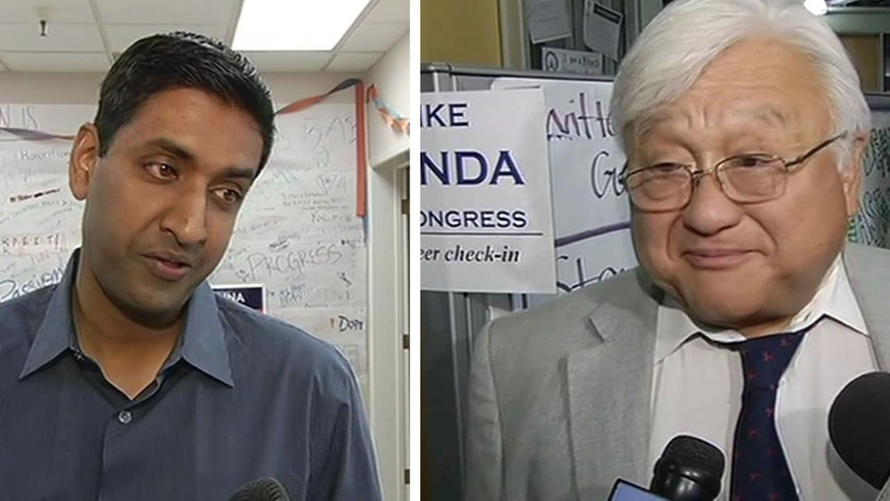 Ro Kanna and Mike Honda