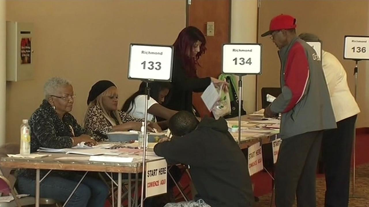 Voters at the polls in Richmond on Election Day, Tuesday, November 4, 2014.