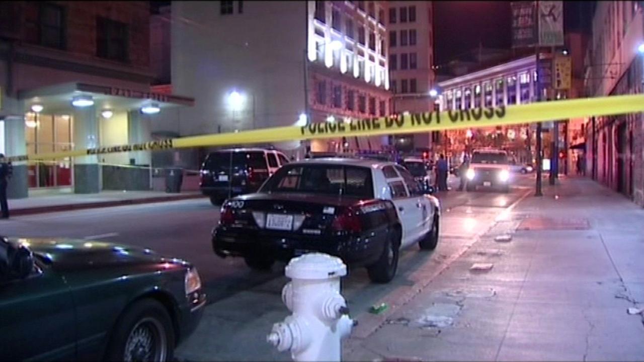 Fatal accident scene in San Francisco
