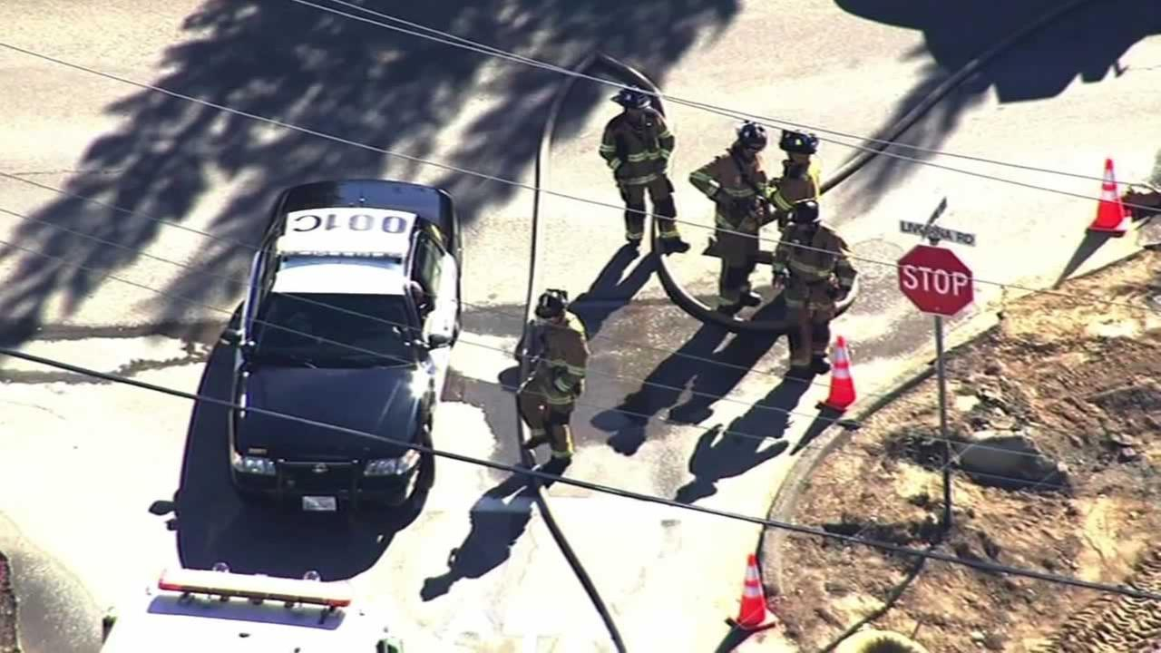 A construction accident caused a gas leak at Livorna and Wilson roads in Alamo.