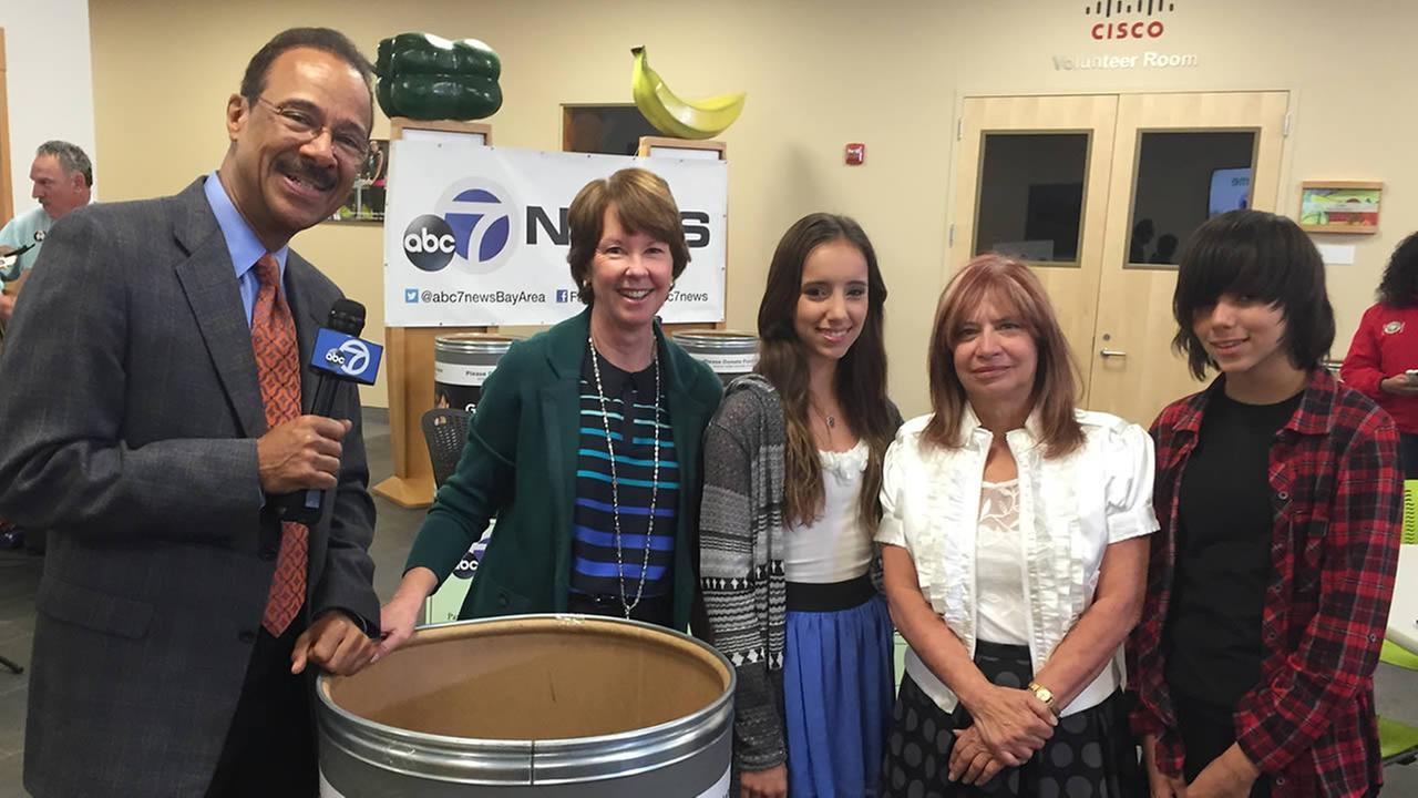 ABC7s Spencer Christian was at the Second Harvest Food Bank