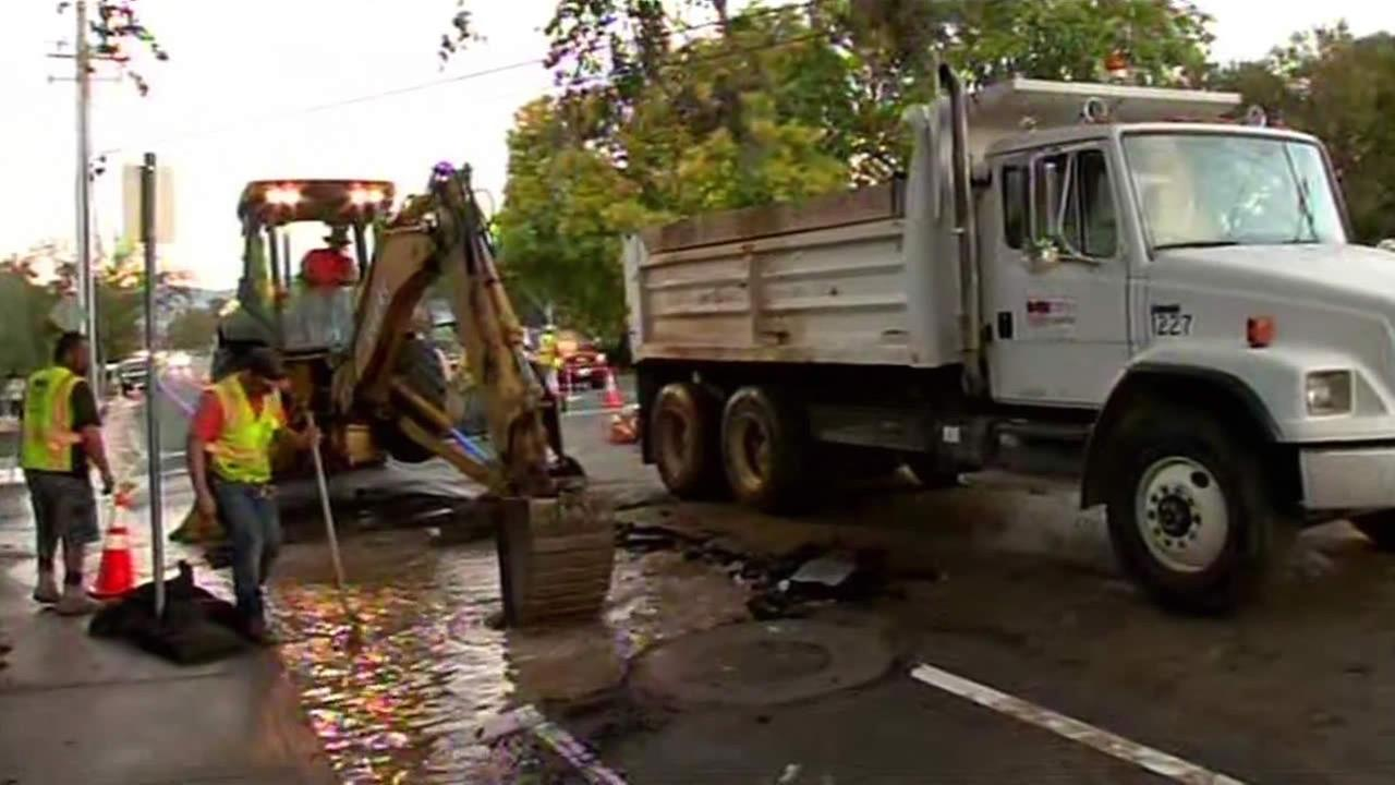 Water main break in Napa.