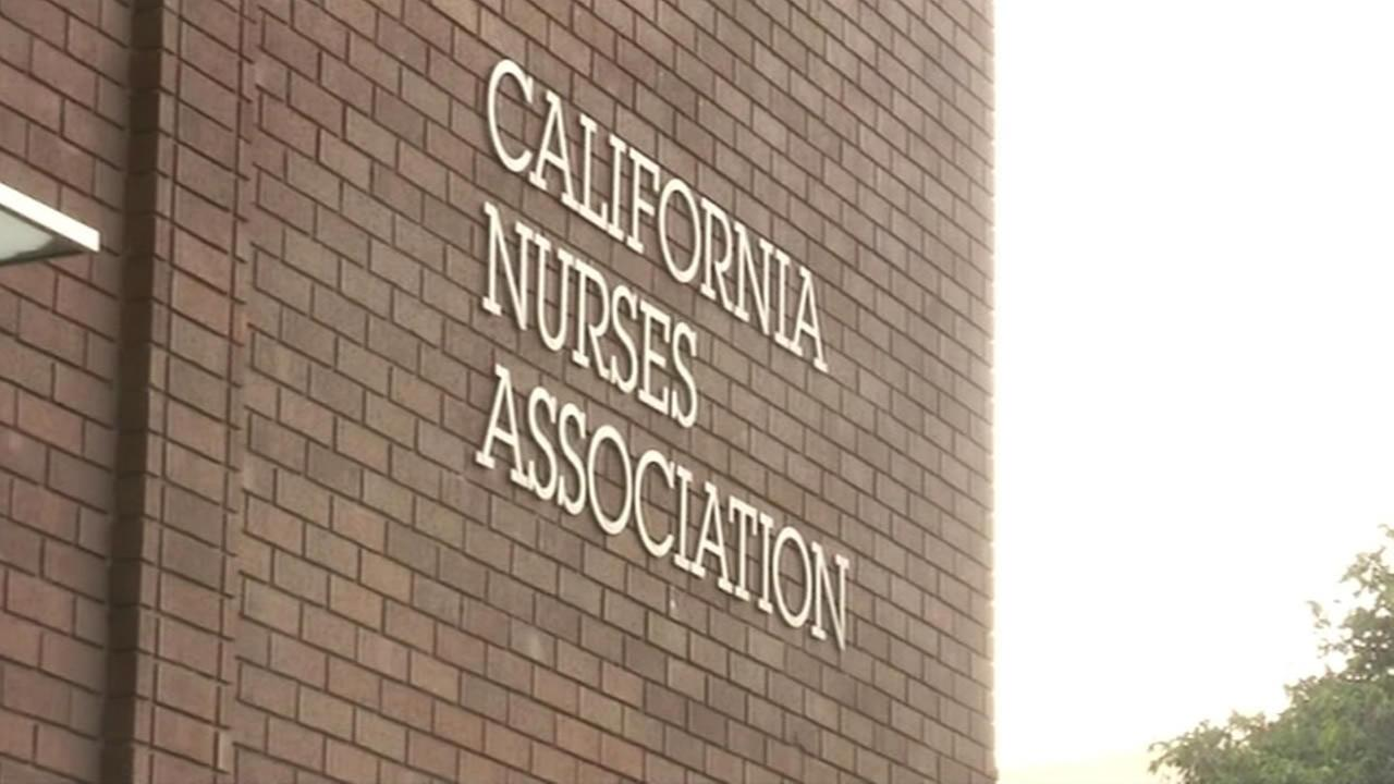 Sign at California Nurses Association building.