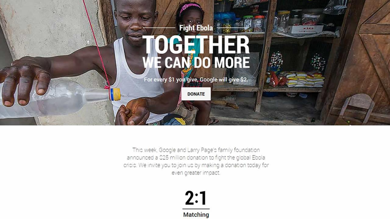 Google is launching a campaign to help fight Ebola.