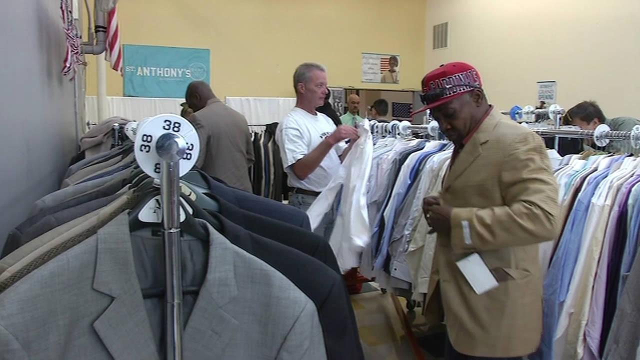 Low-income and homeless veterans get suits from St. Anthonys in San Francisco.