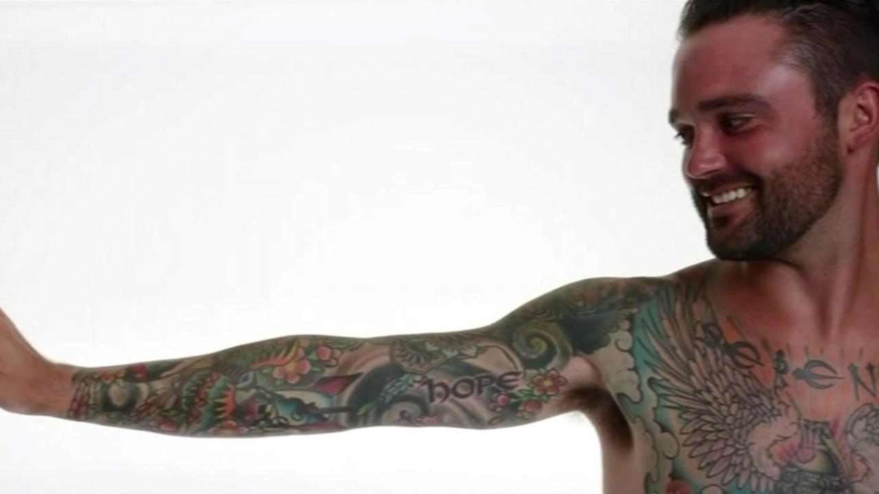 Military tattoos bared for Bay Area art project called War Ink.