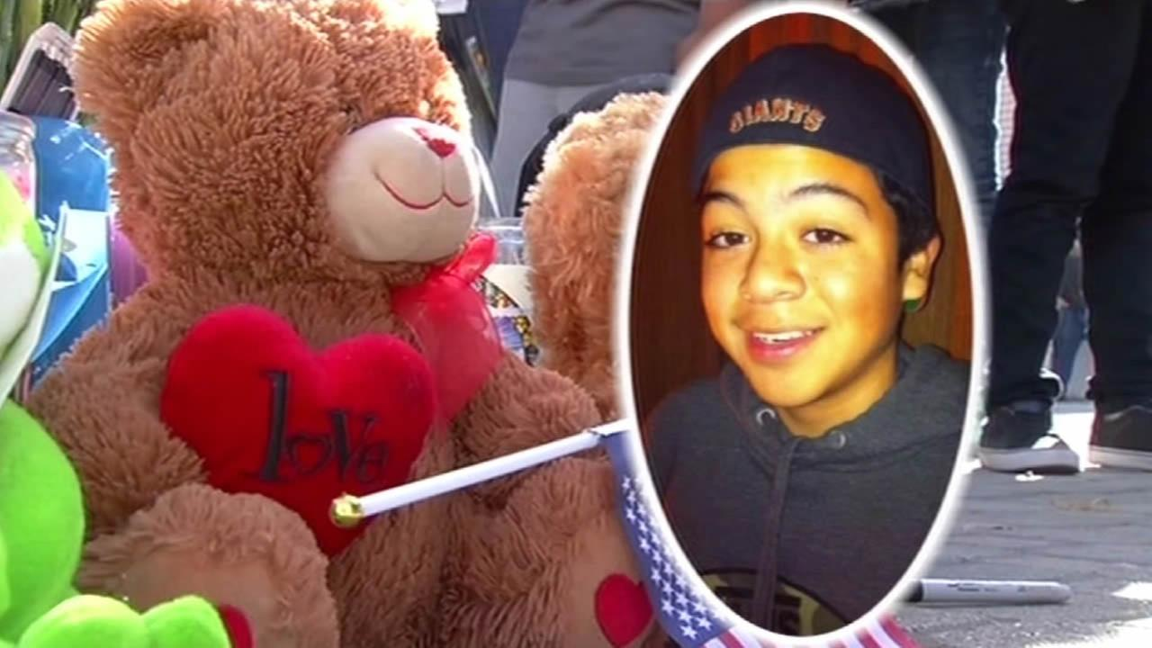 Memorial grows for 14-year-old Ivan Cruz, who was fatally struck by a hit-and-run driver who was being chased by Alameda County Sheriffs deputies.