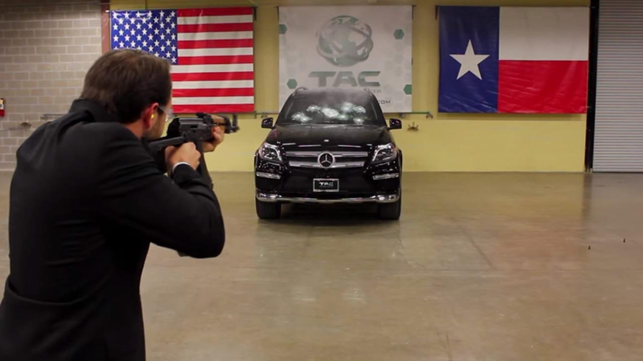 CEO of bulletproof car company sits in SUV shot up by AK-47
