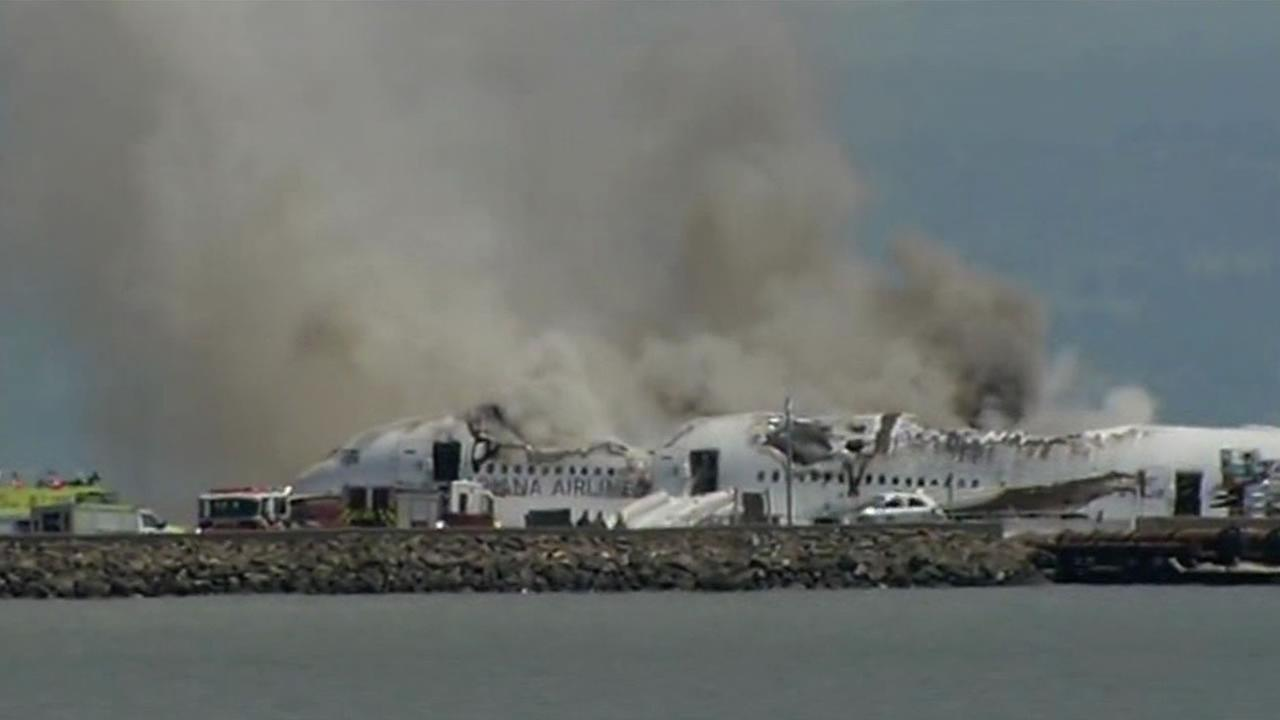 Asiana plane crash at SFO