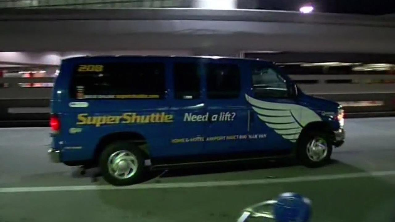 Super Shuttle at SFO.