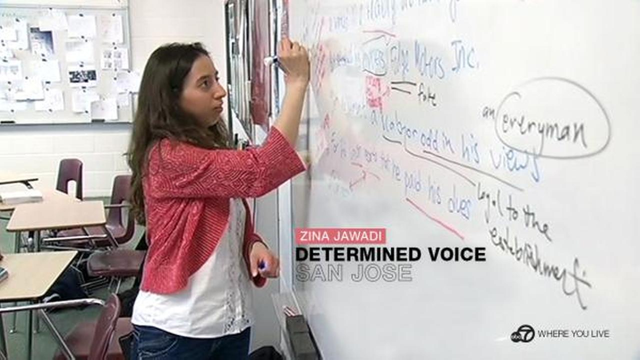 DETERMINED VOICE: From a young age, Zina Jawadi had to learn to be heard and since then, shes never stopped speaking out. We see a bright future for this ABC7 star.