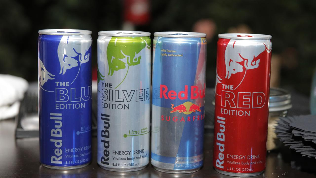 Cans of Red Bull