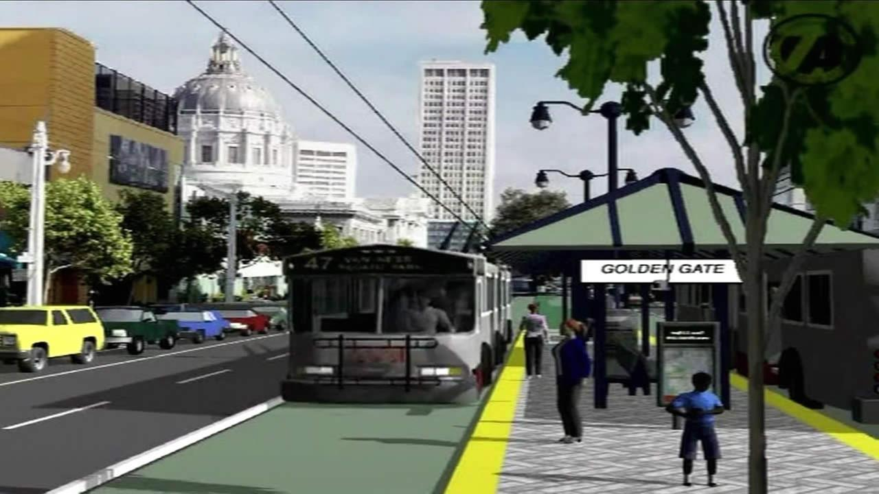 San Franciscos Van Ness Avenue Bus Rapid Transit Project is moving forward.