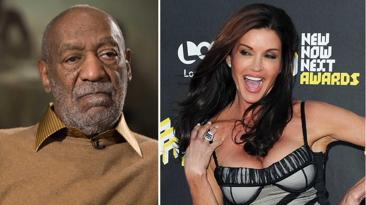 Bill Cosby and Janice Dickenson. (AP Photo/Katy Winn and Evan Vucci)