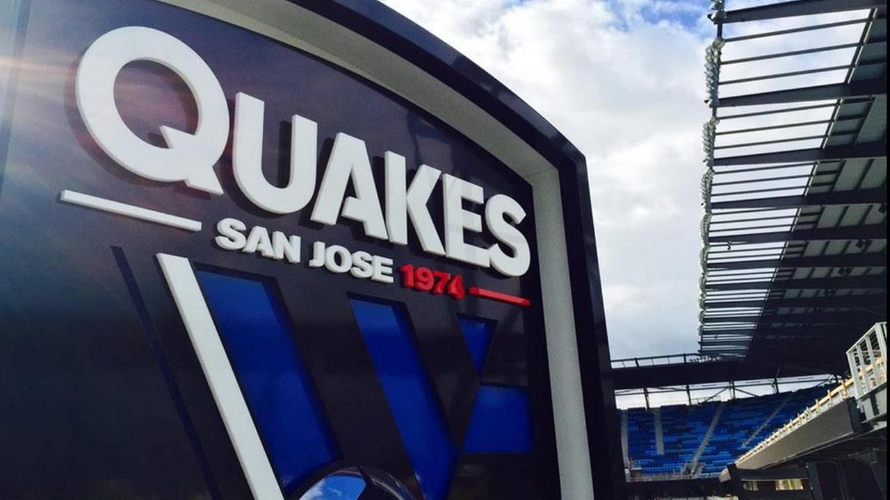 San Jose Earthquakes sign.