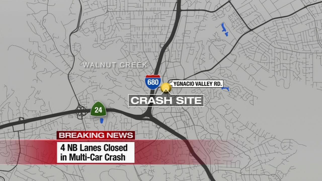 Traffic map of crash
