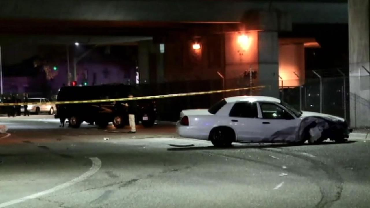 Two pedestrians were struck and killed by a speeding car on the 27th Street and Northgate Avenuen in Oakland Friday night.