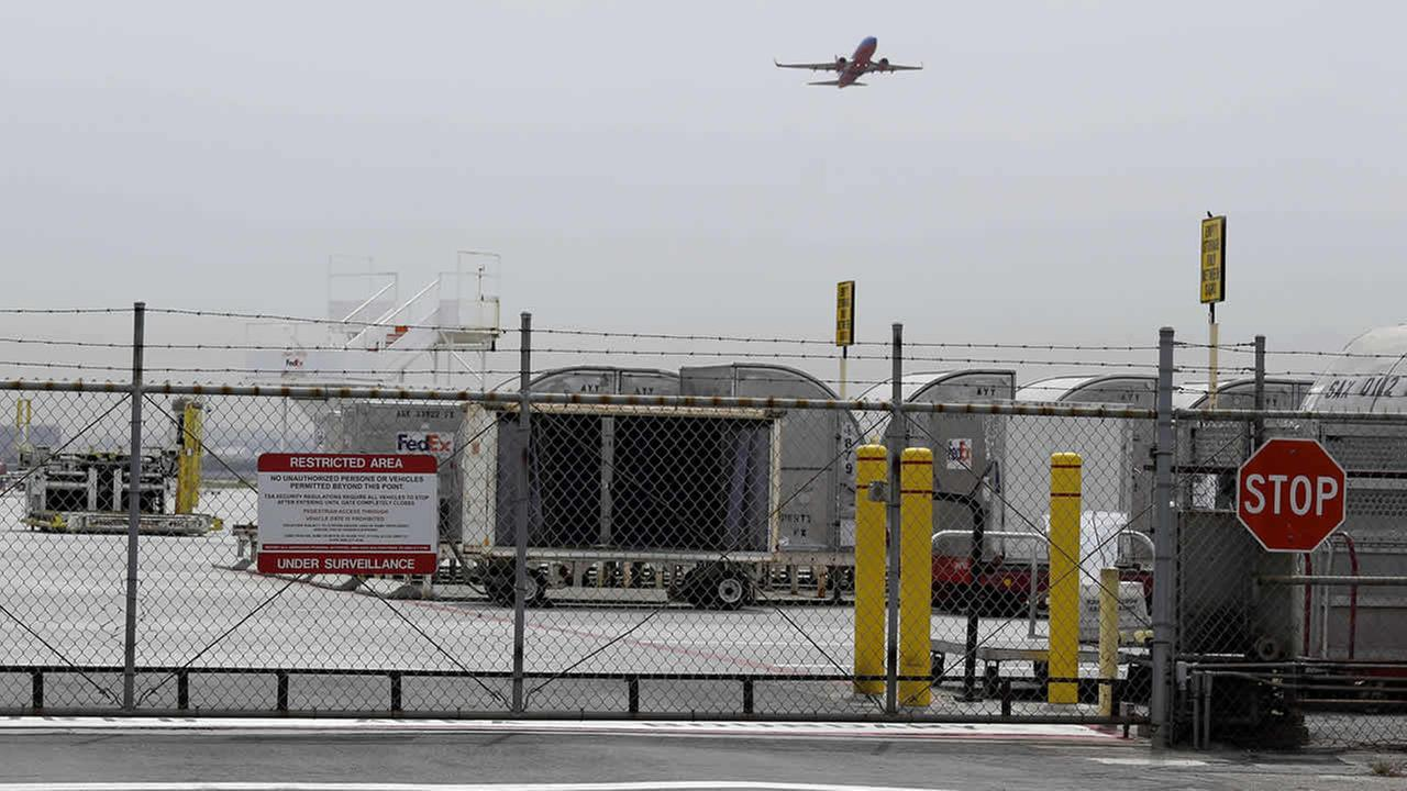 A plane takes off at Mineta San Jose International Airport, Monday, April 21, 2014, in San Jose, Calif.(AP Photo/Eric Risberg)