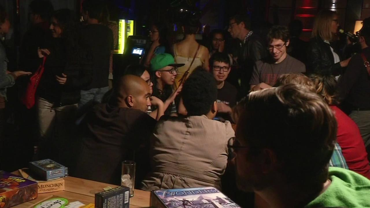 Group of people gather at Nerd Nite event