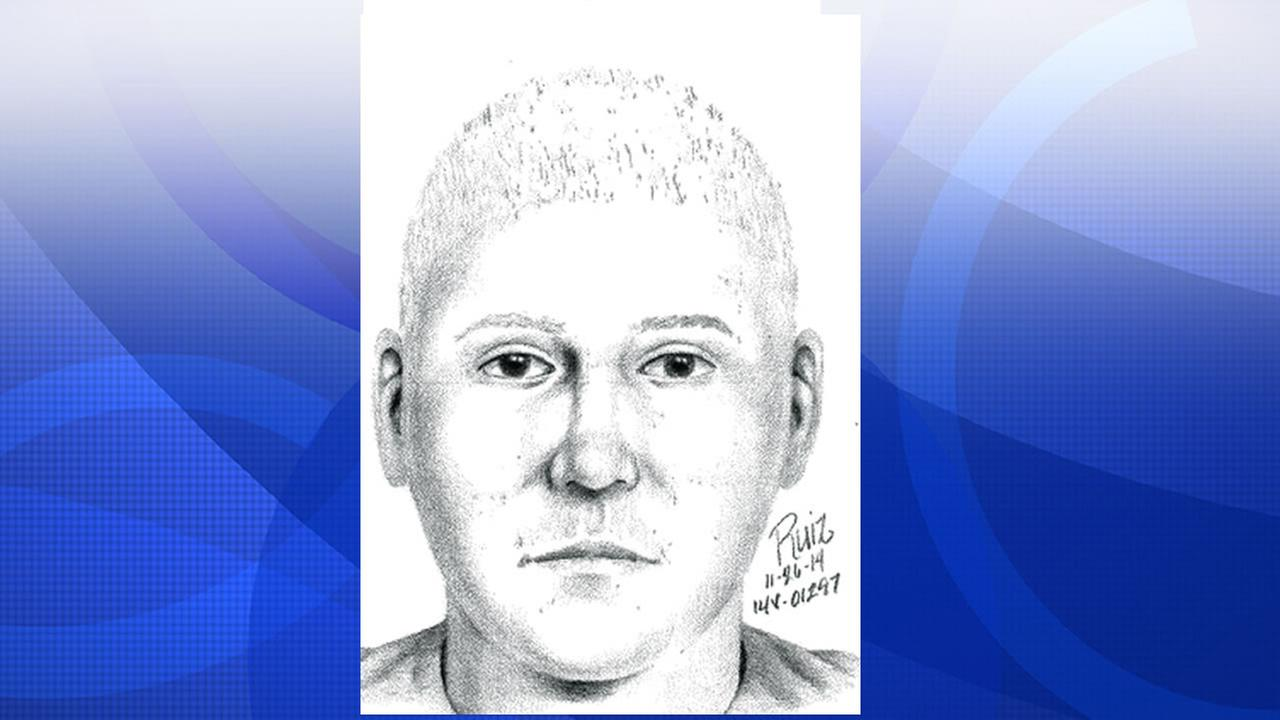 Scotts Valley police release a sketch of a man who reportedly exposed himself to a female jogger.