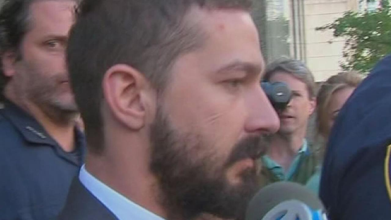 Shia LaBeouf appears outside a New York courthouse in this undated file photo. (WABC)