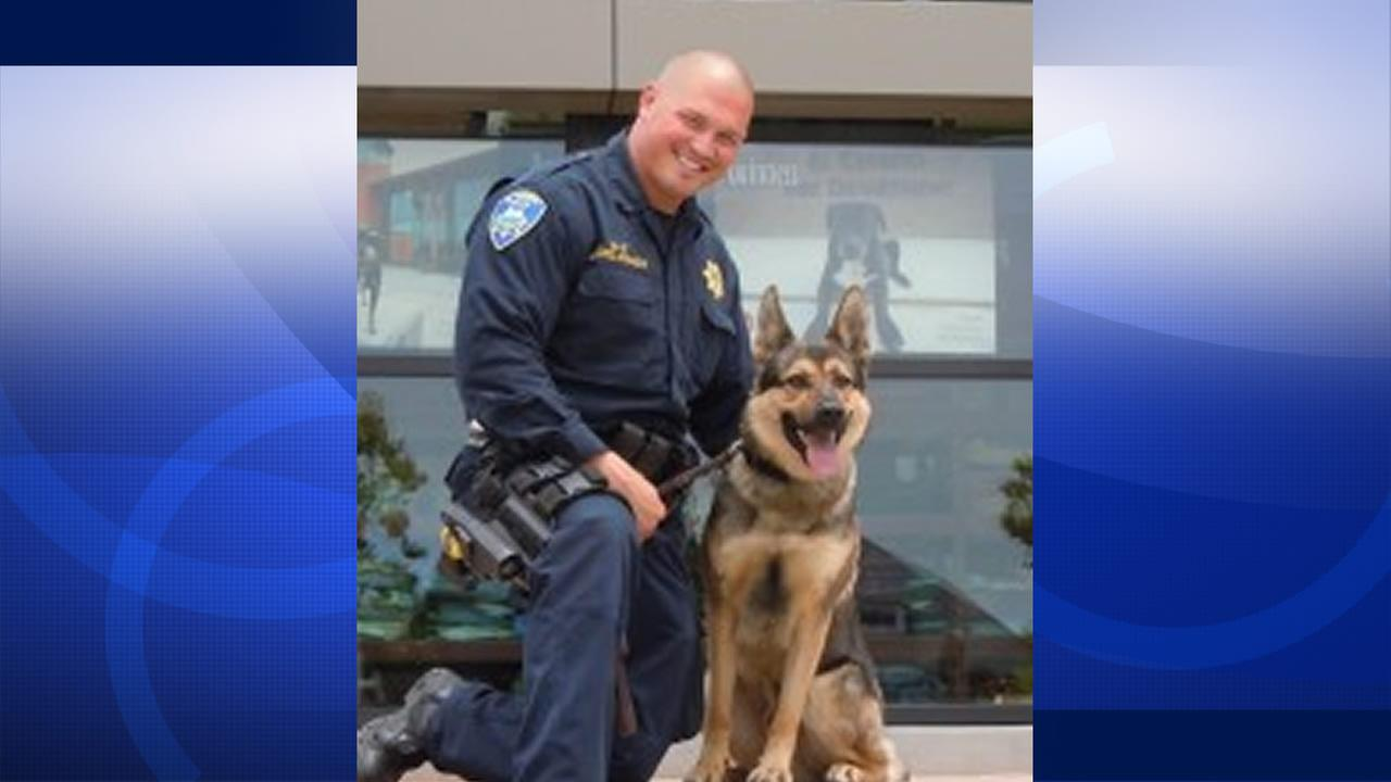 El Cerrito Police Officer Del Prado and K9 Koda.