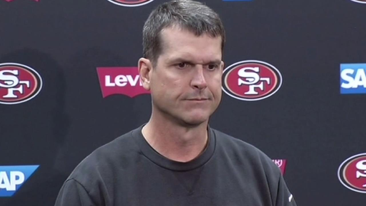 San Francisco 49ers head coach Jim Harbaugh