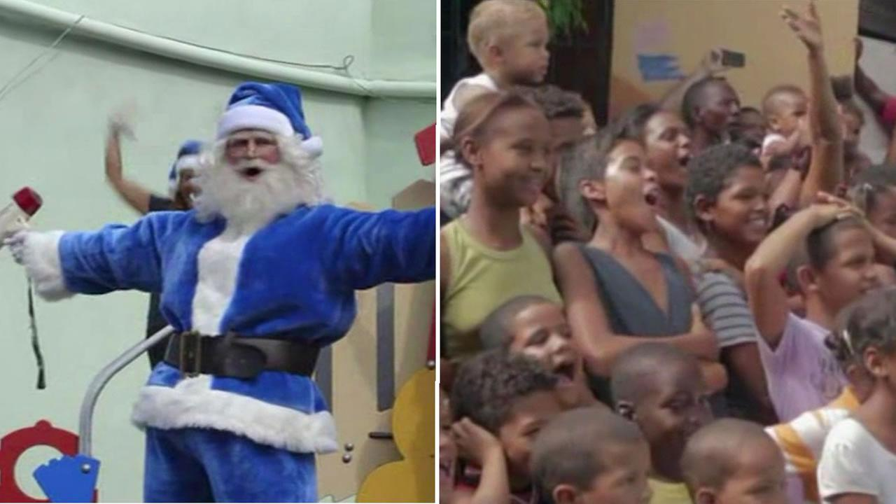 WestJet Airlines made the holidays brighter for a small and deserving town in the Dominican Republic.