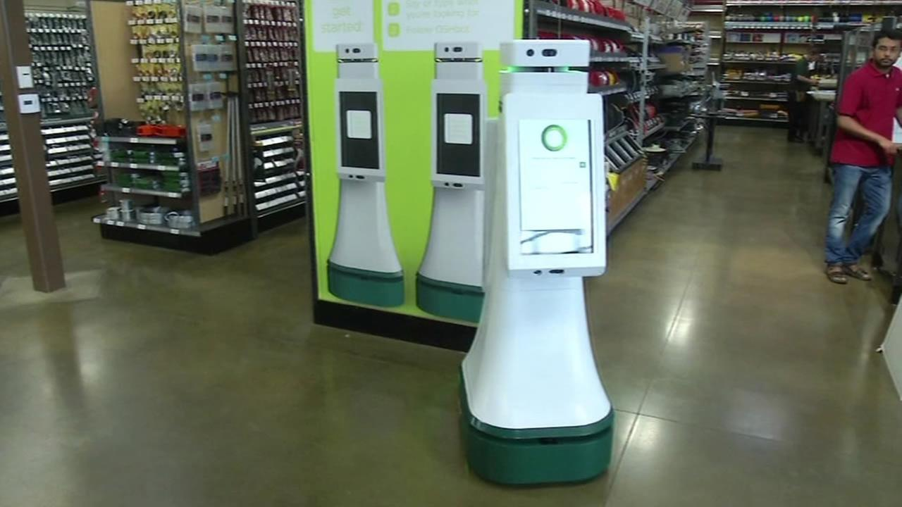 Orchard Supply Hardware in San Jose is using a robot to help customers.