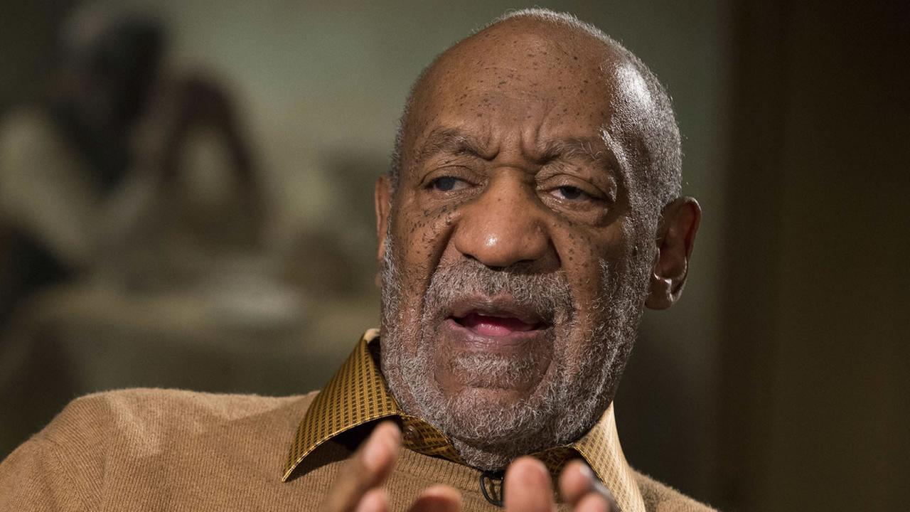 In this Nov. 6, 2014 file photo, entertainer Bill Cosby gestures during an interview about the upcoming exhibit, Conversations: African and African-American Artworks in Dialogue,
