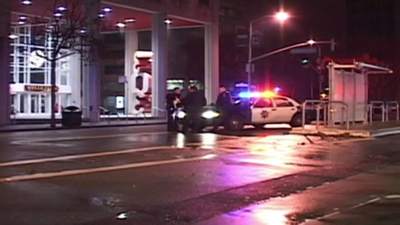 Police investigating after pedestrian was struck by car in SFs Yerba Buena area